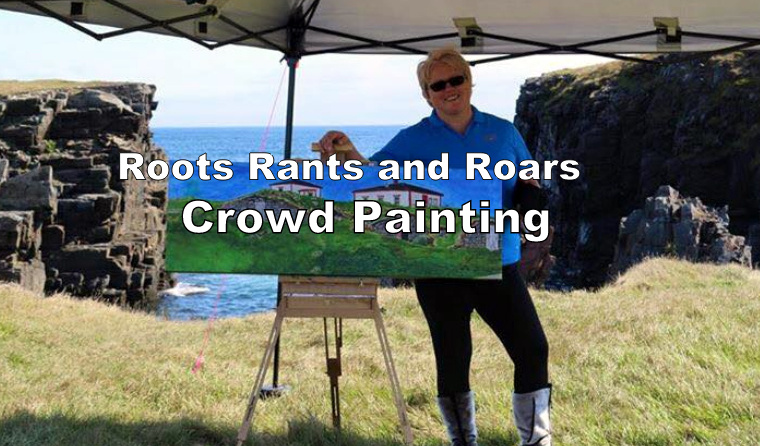 Roots Rants and Roars Crowd Painting