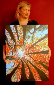 Artist Bobbi Pike with Chelsey's View