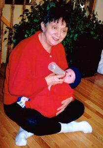 Baby Alex with Nanny Seymour