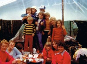 Camping buddies (Thats me in the orange turtle neck)