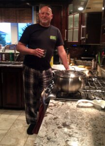Hubby Geoff, waiting for me to come cooking with him in the kitchen