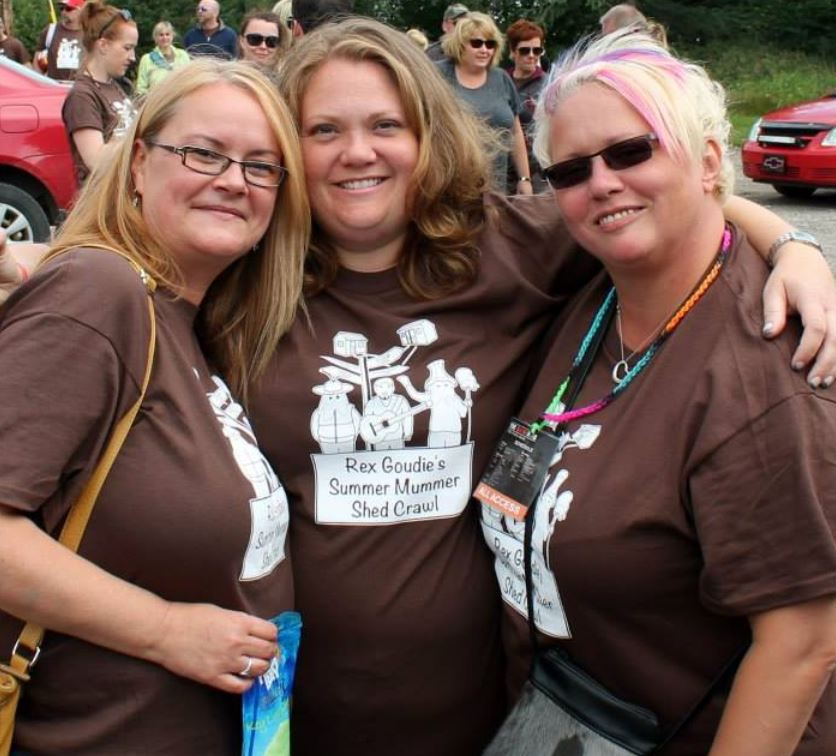 Margaret, Dana and I at last years shed crawl. Awesome memories