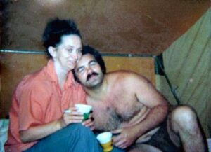 Mom and Dad camping