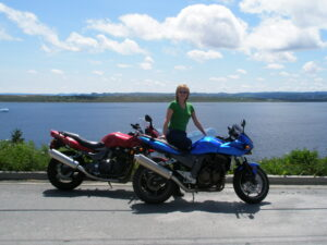 My two bestest bikes and I, back in the day