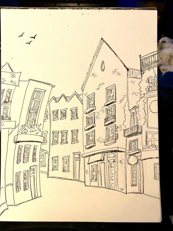 Neal's Yard artist sketch