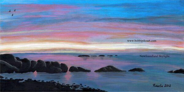 Newfoundland Sky Lights by Bobbi Pike