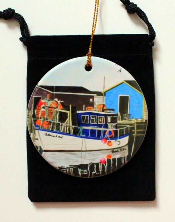 Petty Harbour blues ornament