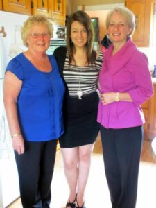 Chelsey with her mom, Dawn and Nan Audrey
