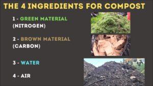 Your compost needs 4 ingredients