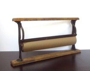 vintage brown paper rack